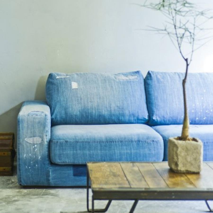 【展示品】FRANKLIN SOFA Damage denim 家具