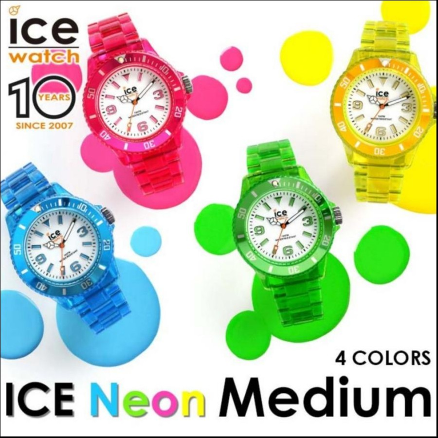 アイスウォッチ 日本正規代理店公式ショップ 公式ストア ICE-WATCH - ICE NEON アイスネオン 日本限定品 10周年記念復刻モデル ミディアムサイズ 全4色