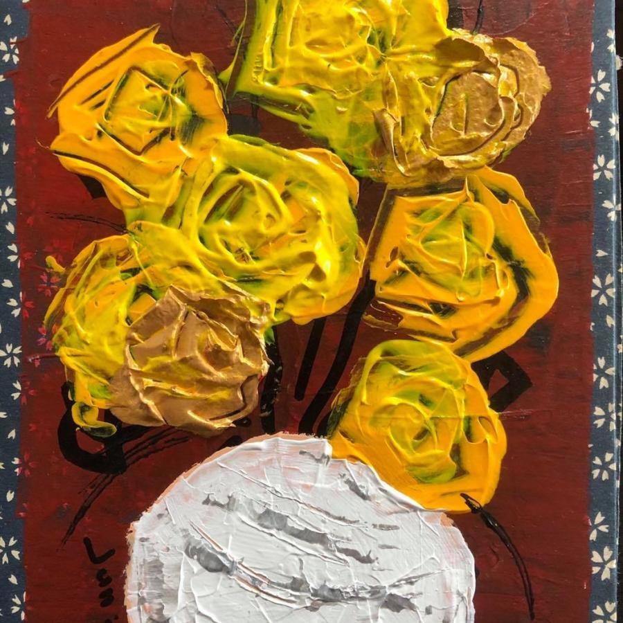 中島淳一『薔薇』20×17 絵画