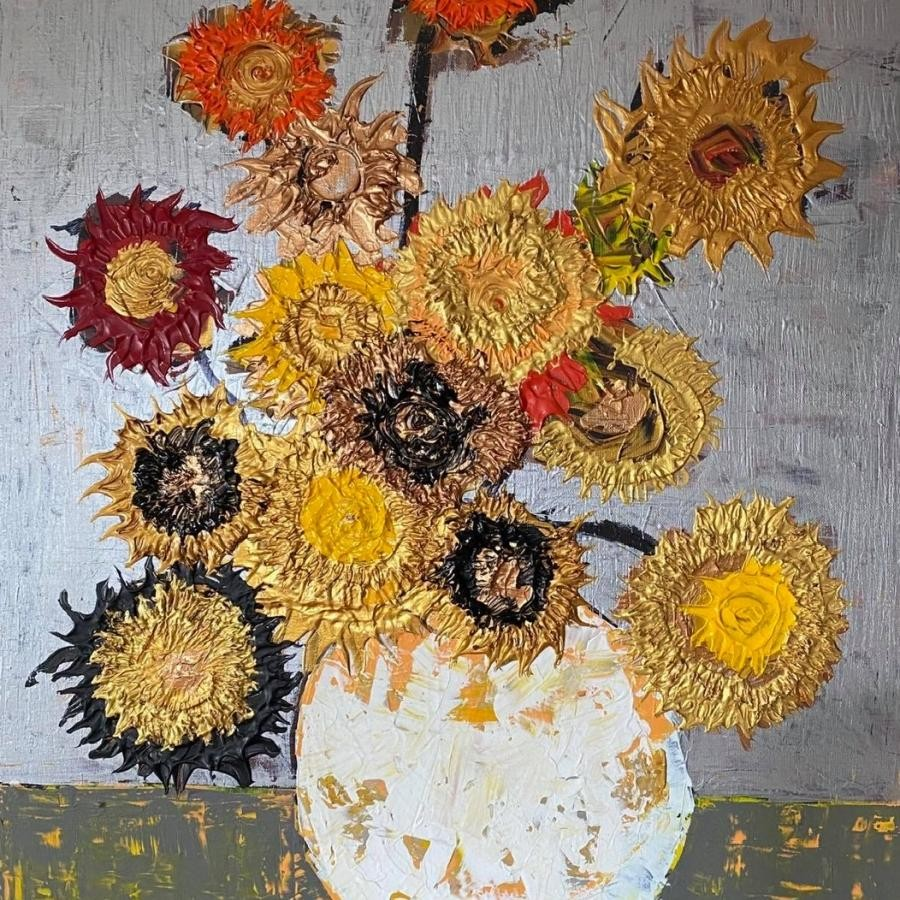 中島淳一『sunflowers 向日葵』F20 絵画