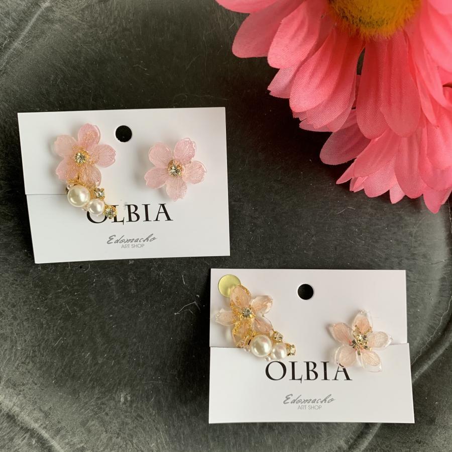 OLBIA  新作‼️桜のイヤーカフセット 本物のお花シリーズ イヤリング(YW9)