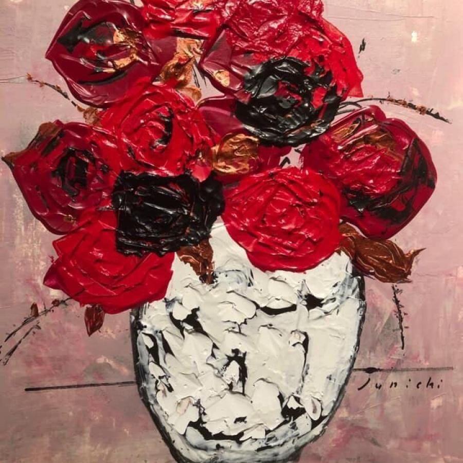 中島淳一『薔薇』27×19 絵画