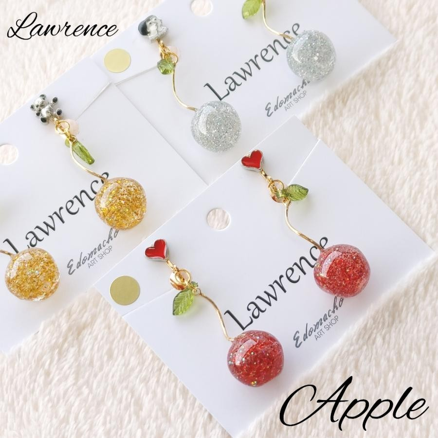 Lawrence ~ パーツ + 揺れるりんご ~ イヤリング・ピアス (YW8)
