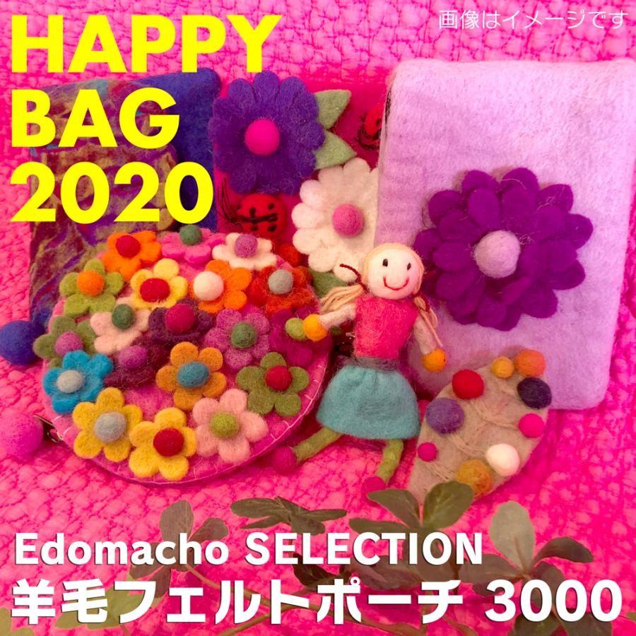 【福袋】エドマッチョセレクション 2019 HAPPY BAG 手作り羊毛フェルトポーチセット 3000