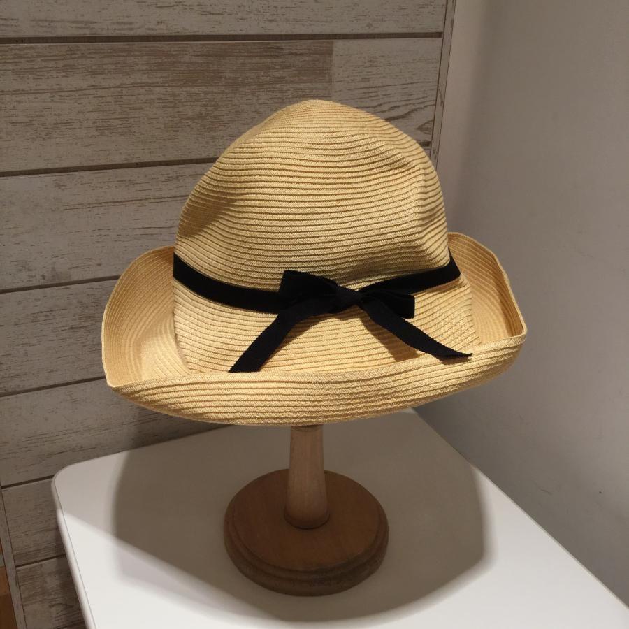 マチュアーハ mature ha. BOXD HAT 11㎝ brim grosgrain ribbon