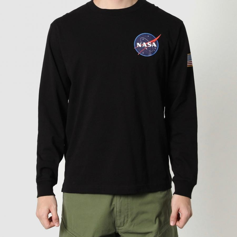 NASA×ALPHA スペースシャトル 長袖Tシャツ