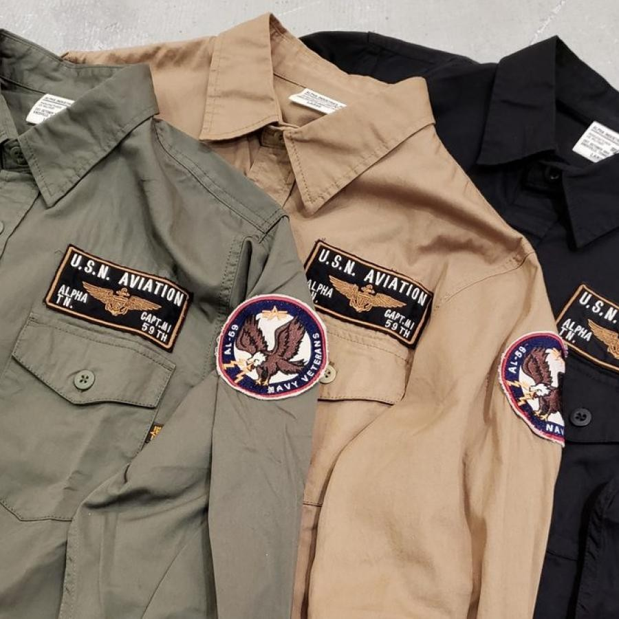 ARMY PATCHED SHIRT