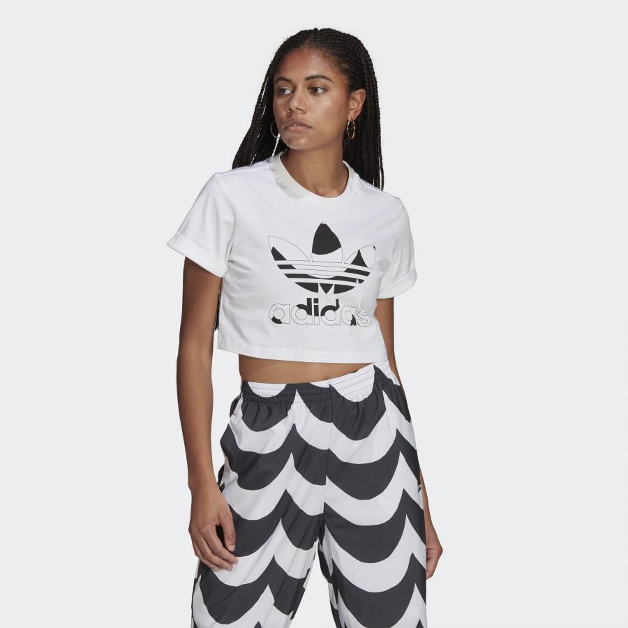 CROP TEE マリメッコ トレフォイル インフィル クロップド Tシャツ