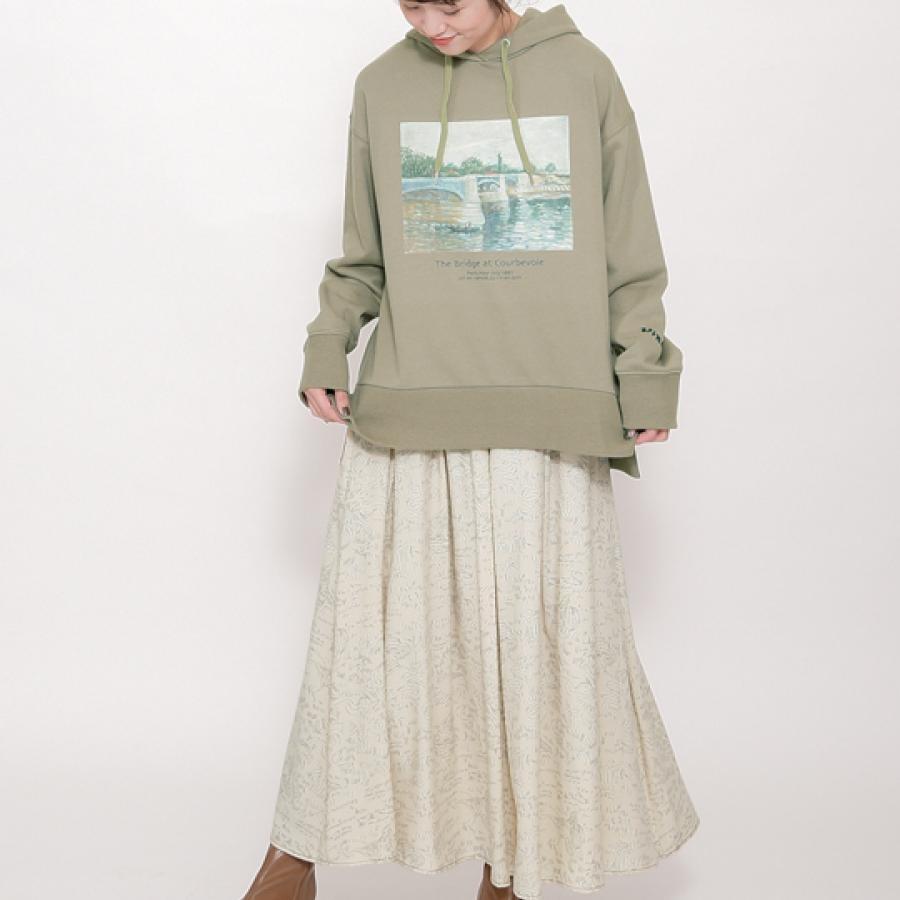 【Van Gogh Museumコラボ】総柄線画スカート