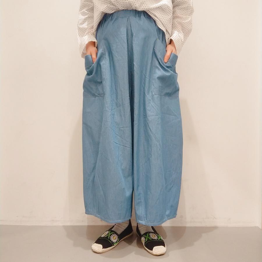 裾タックパッチポケットパンツ