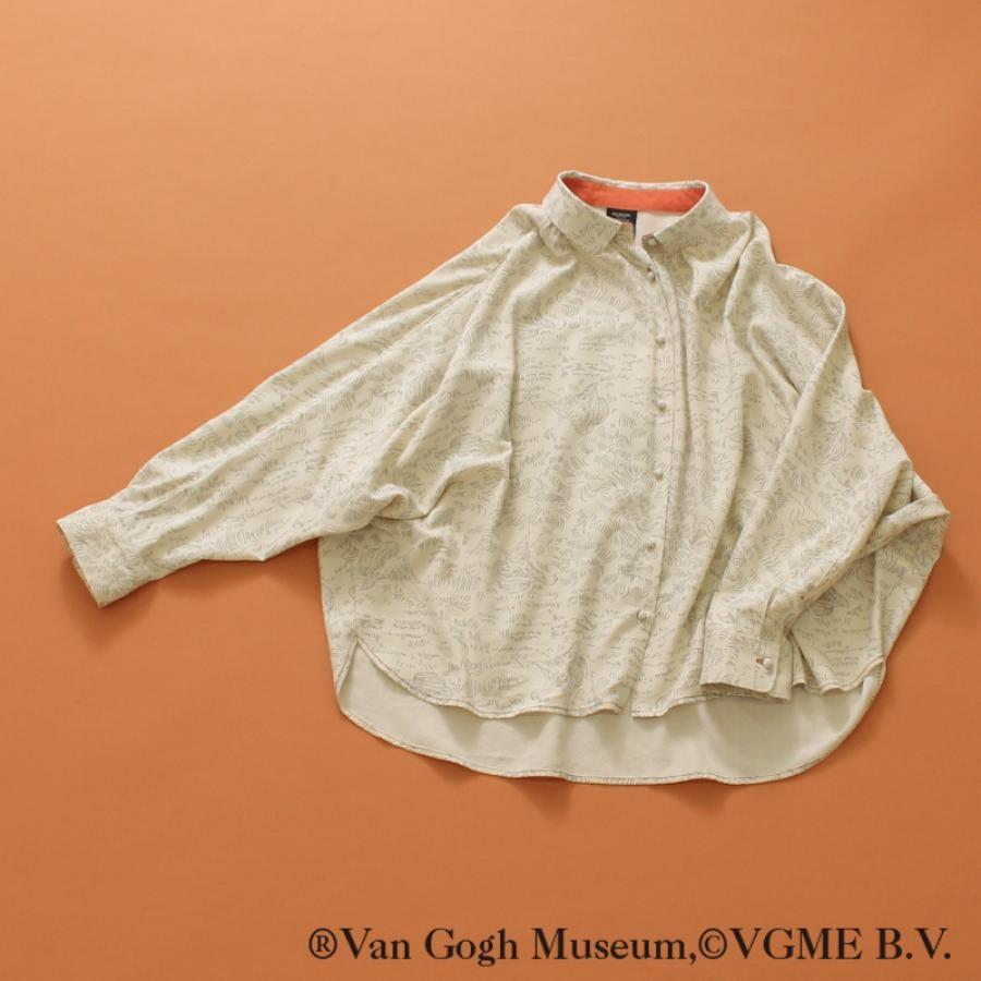 【Van Gogh Museumコラボ】総柄線画ブラウス