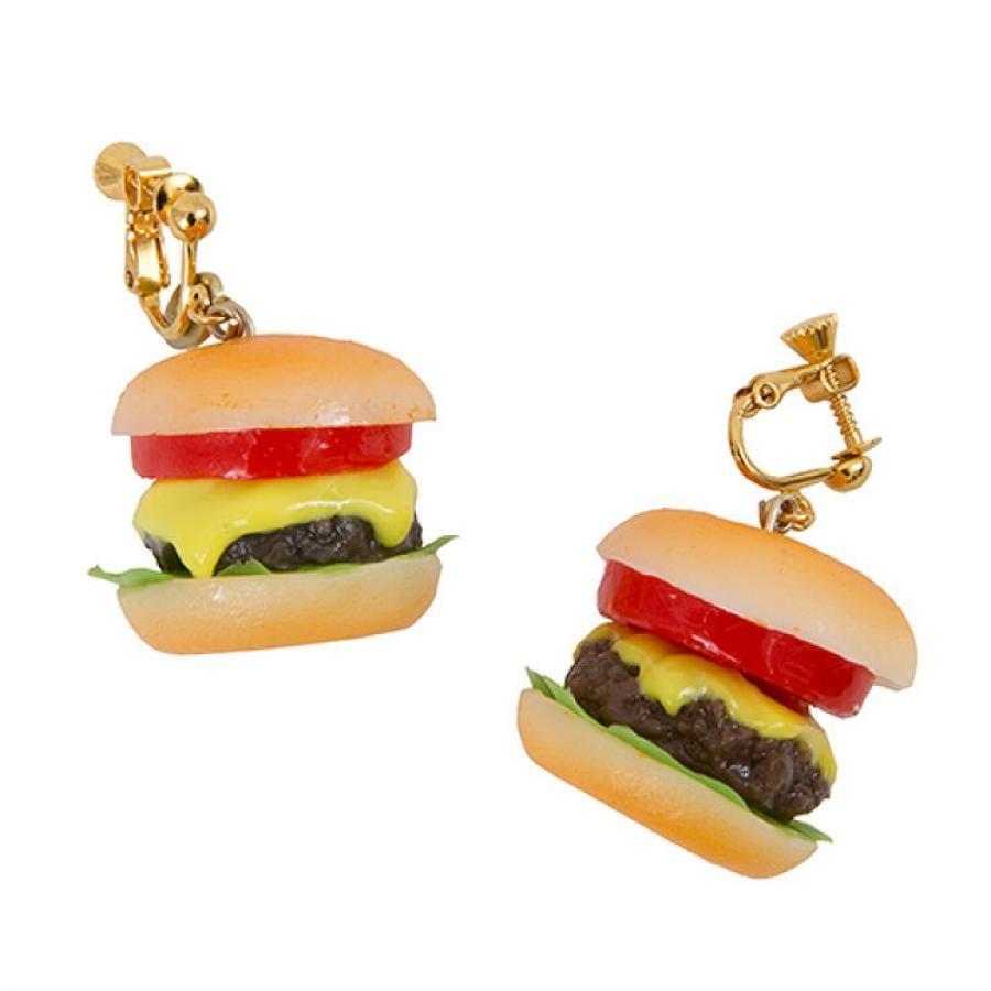 ハンバーガーのピアス・イヤリング