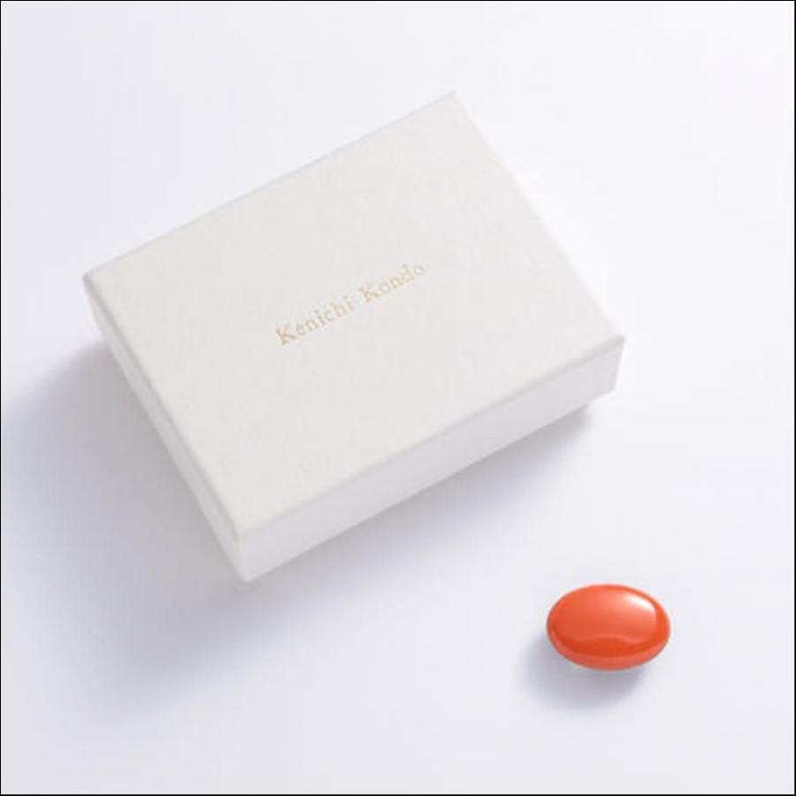 帯留 kenichi kondo オレンジ   帯留