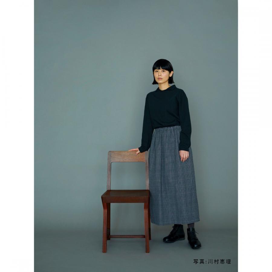 ウールリネンウェザースカート / D