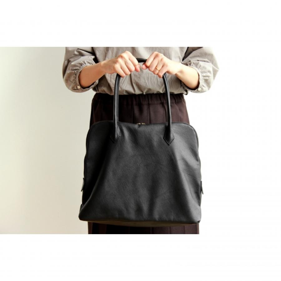 Silva Tote Bag Leather noir / THE FACTORY + DO