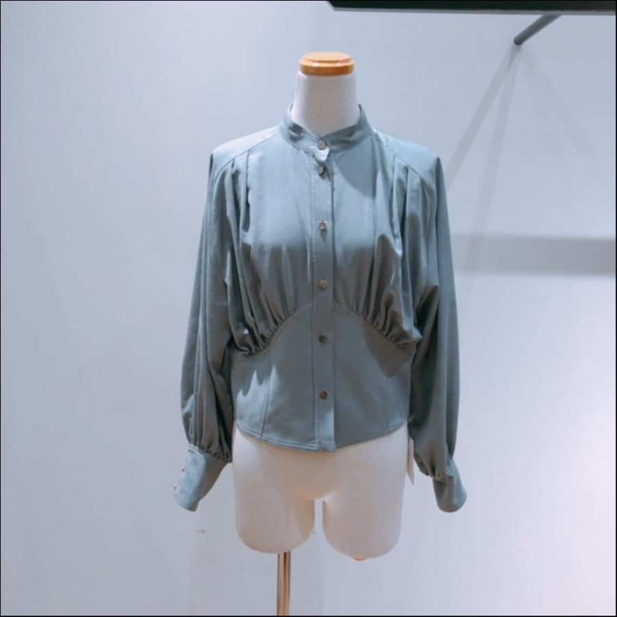 ELIN Suede gather blouse