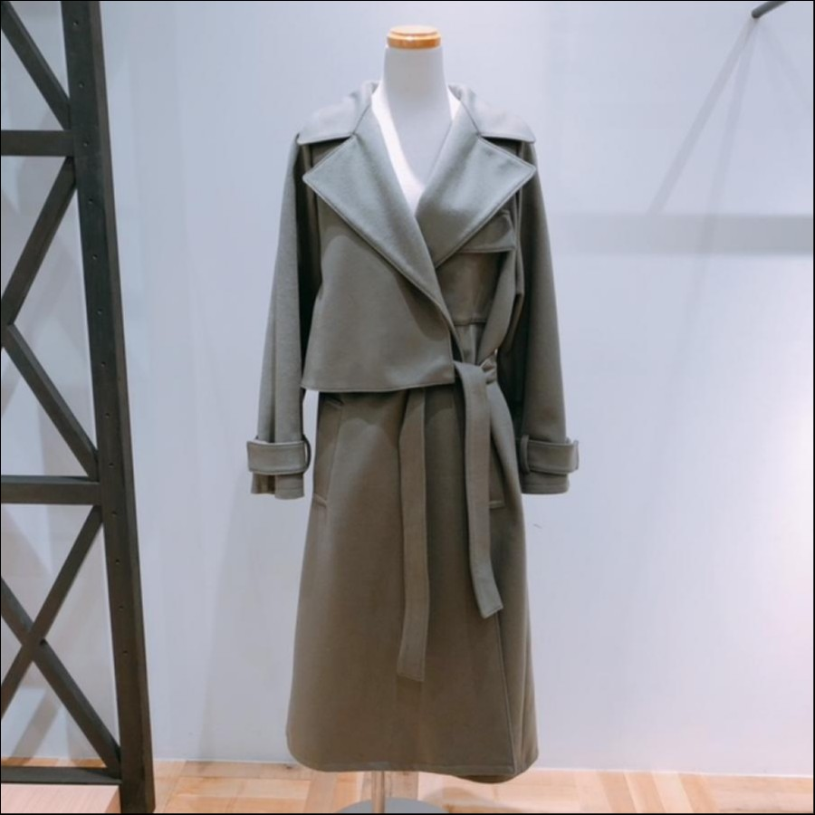 ELIN  Wool smooth trench ct