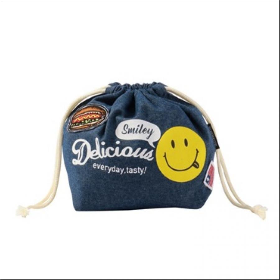 Delicious Smile (デリシャス スマイル) ランチ巾着 DENIM