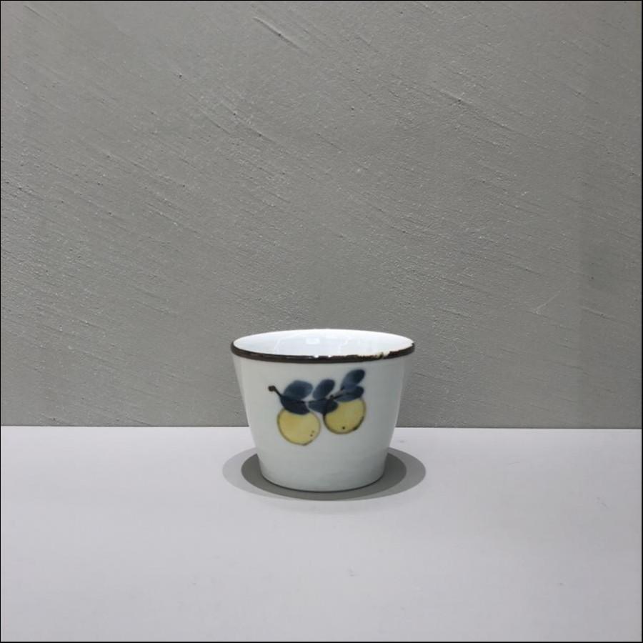 九谷青窯 色絵枝レモン 蕎麦猪口