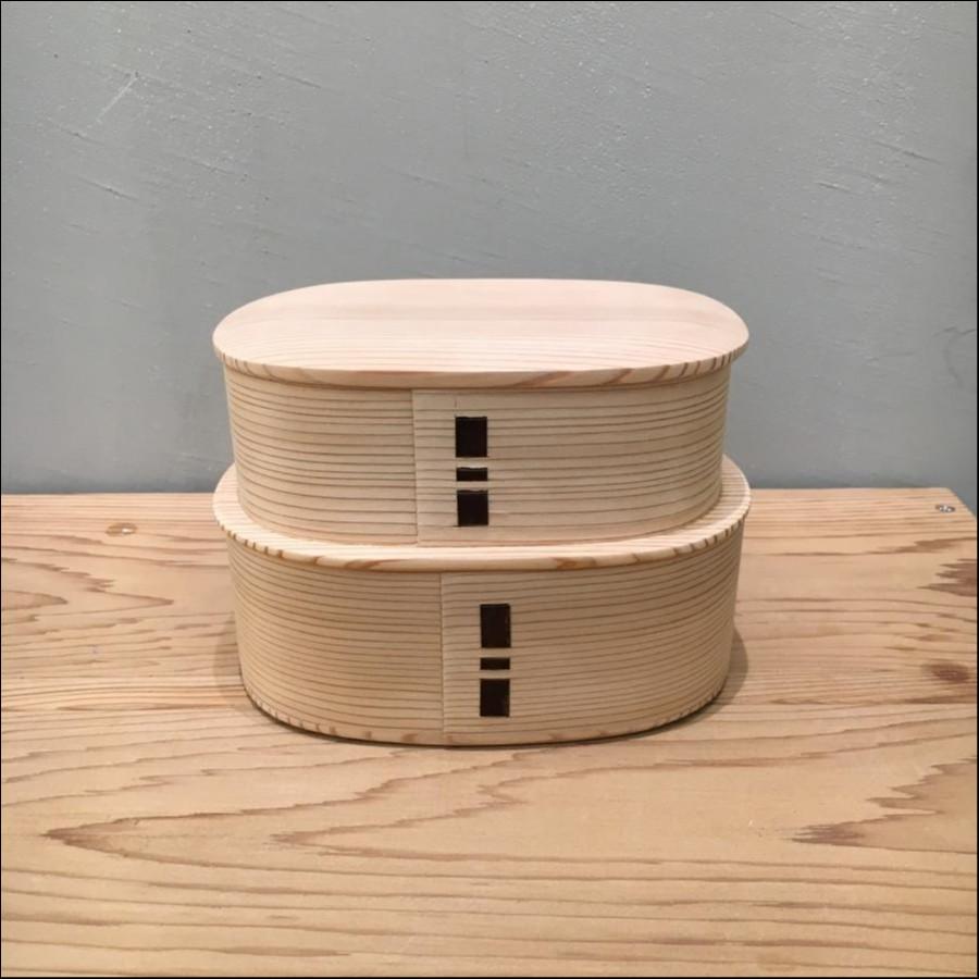 柴田慶信商店 曲げわっぱ 白木つくし弁当箱