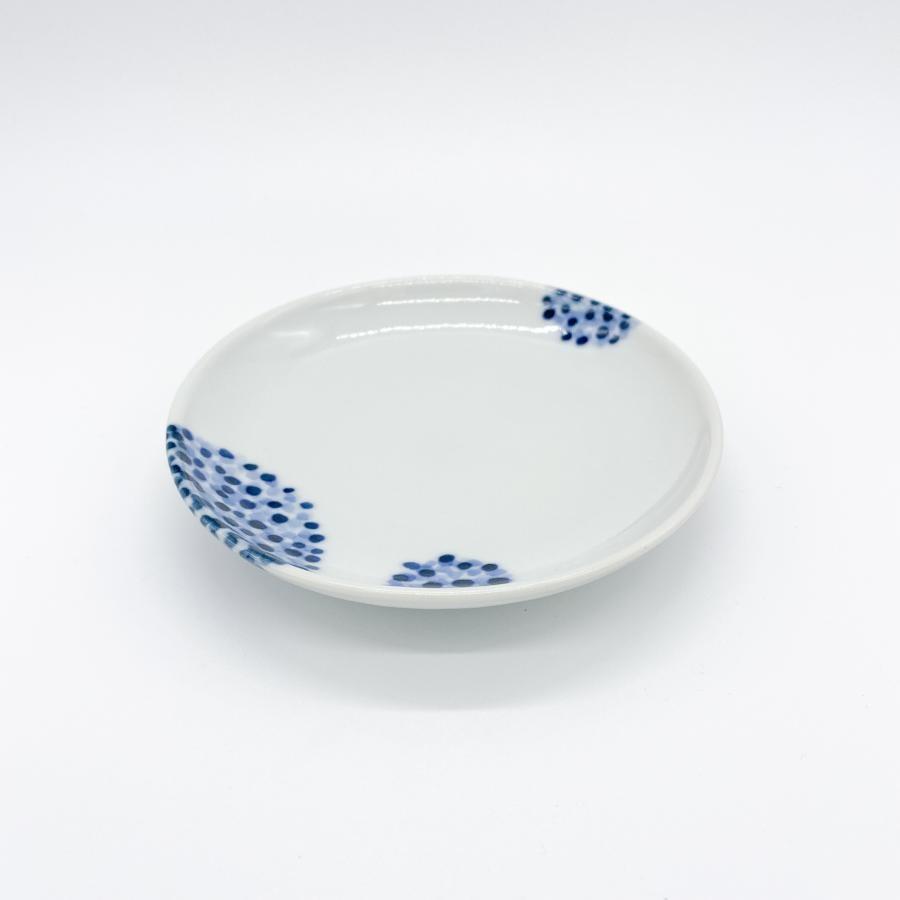 九谷青窯 点描丸花|4寸皿