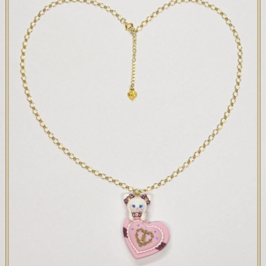 ねこくみゃちゃんのプレゼントボックスネックレス