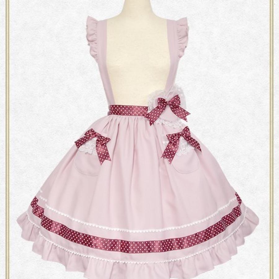 ねこくみゃちゃんのドットリボンスカート