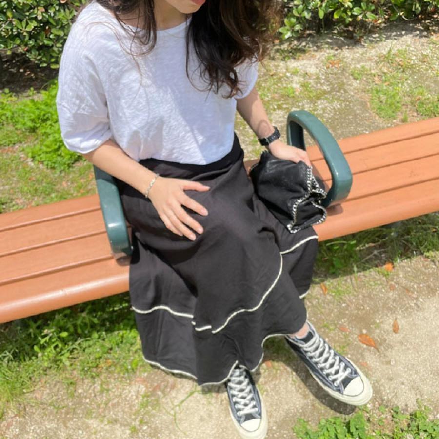 裾ラインフレアスカート