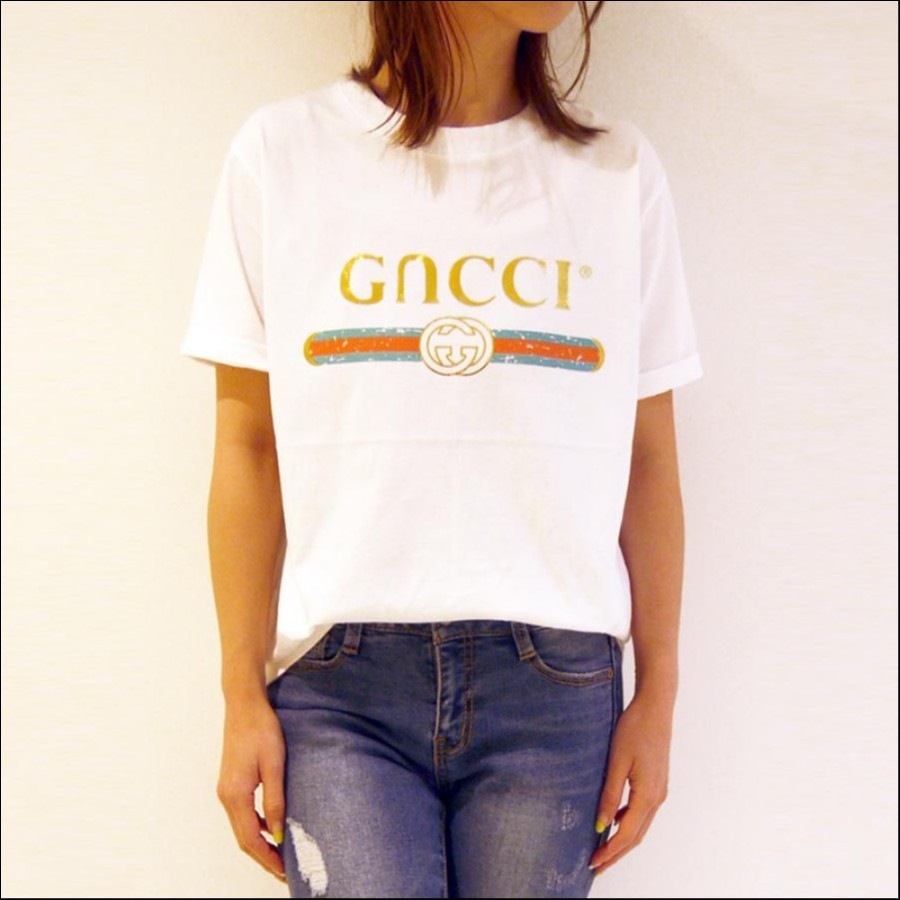 GucciパロディカラーTee[Color: ホワイト]