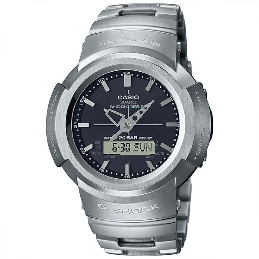 G-SHOCK ジーショック CASIO カシオ フルメタル AWM-500D-1AJF アナデジ 電波ソーラー 腕時計 メンズ