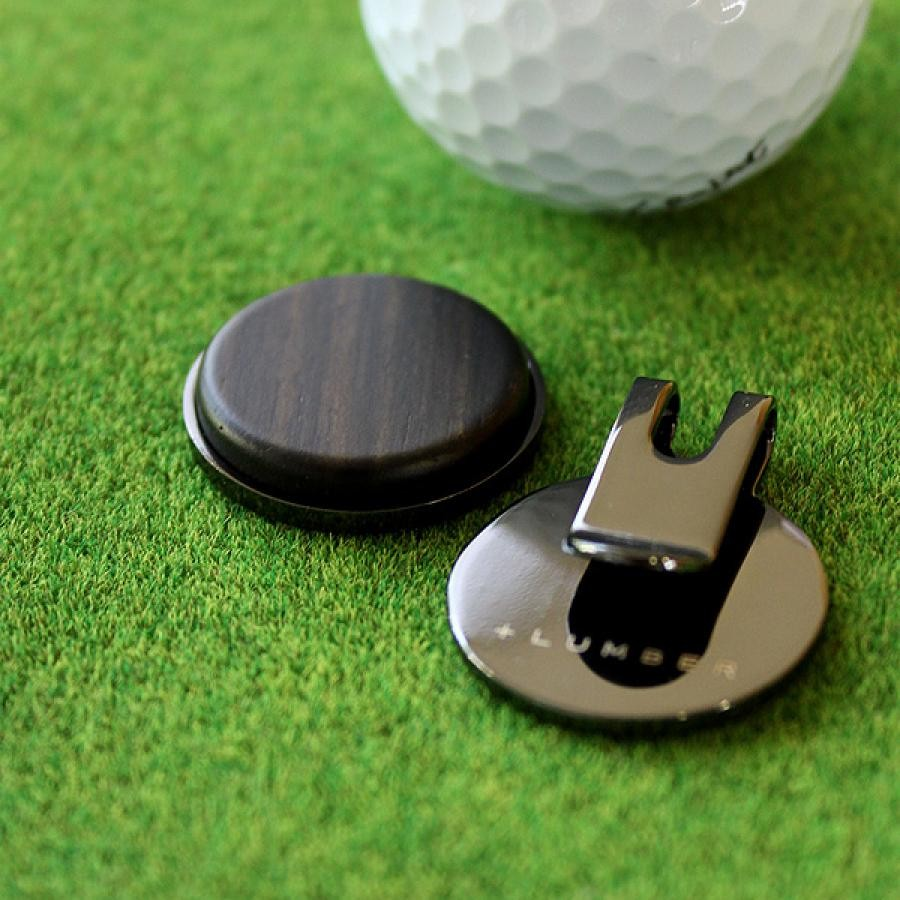 ゴルフマーカー 黒檀