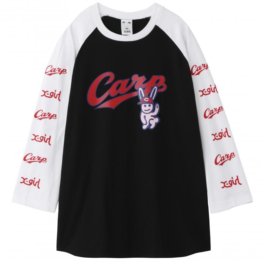 X-girl × CARP B/B TEE