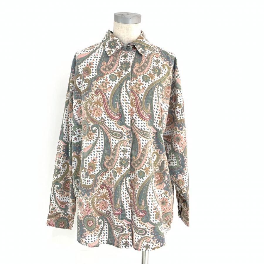 vintage.ペイズリー柄shirt