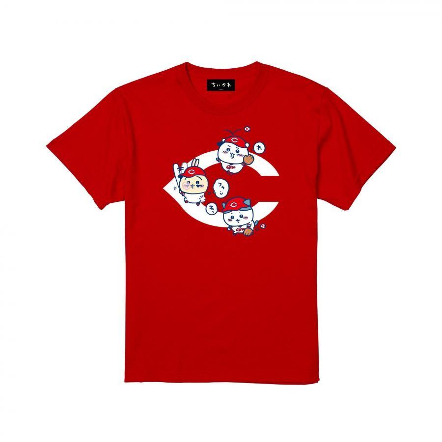 【予約商品】ちいかわX広島東洋カープ ロゴ Tシャツレッド【1会計3点まで・11月下旬発送予定】