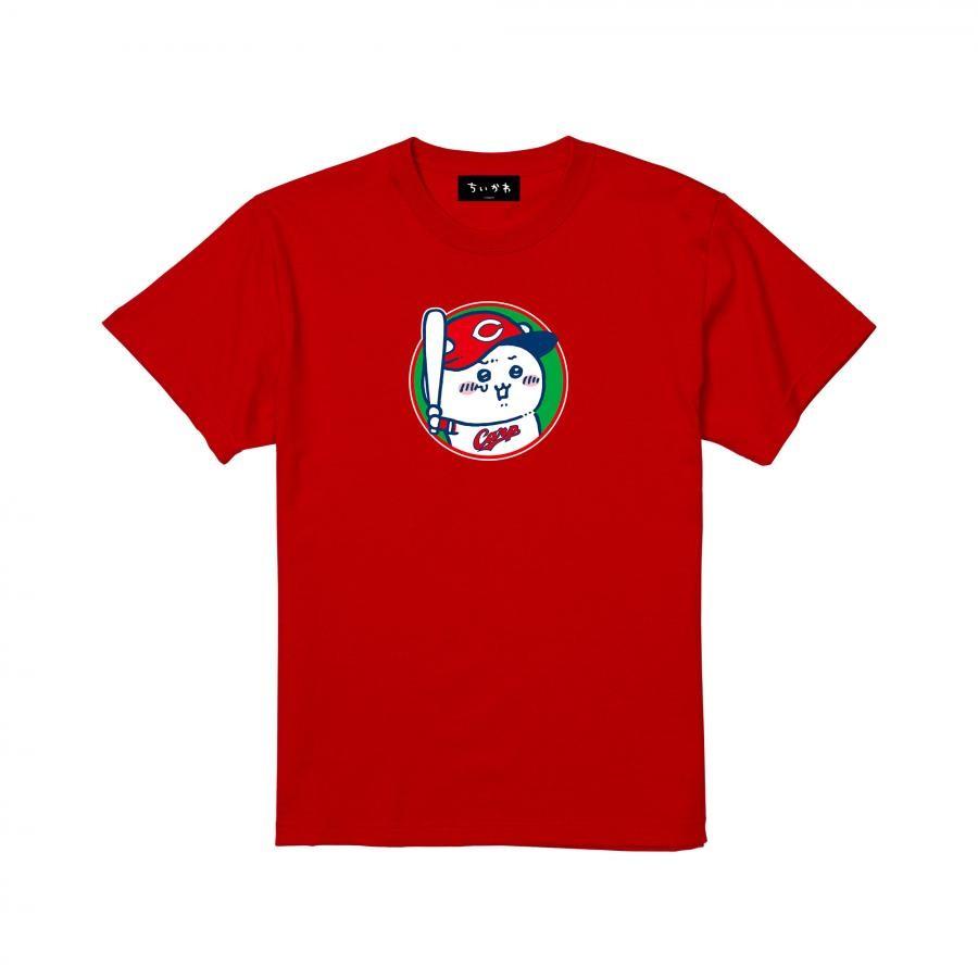 【予約商品】ちいかわX広島東洋カープ サークル Tシャツレッド【1会計3点まで・11月下旬発送予定】