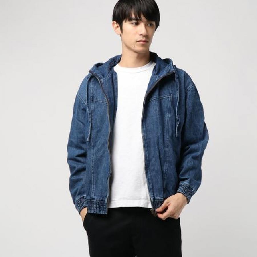 TRIANGLE LOGO DENIM HOODIE JACKET 【JAPAN EXCLUSIVE ITEM】