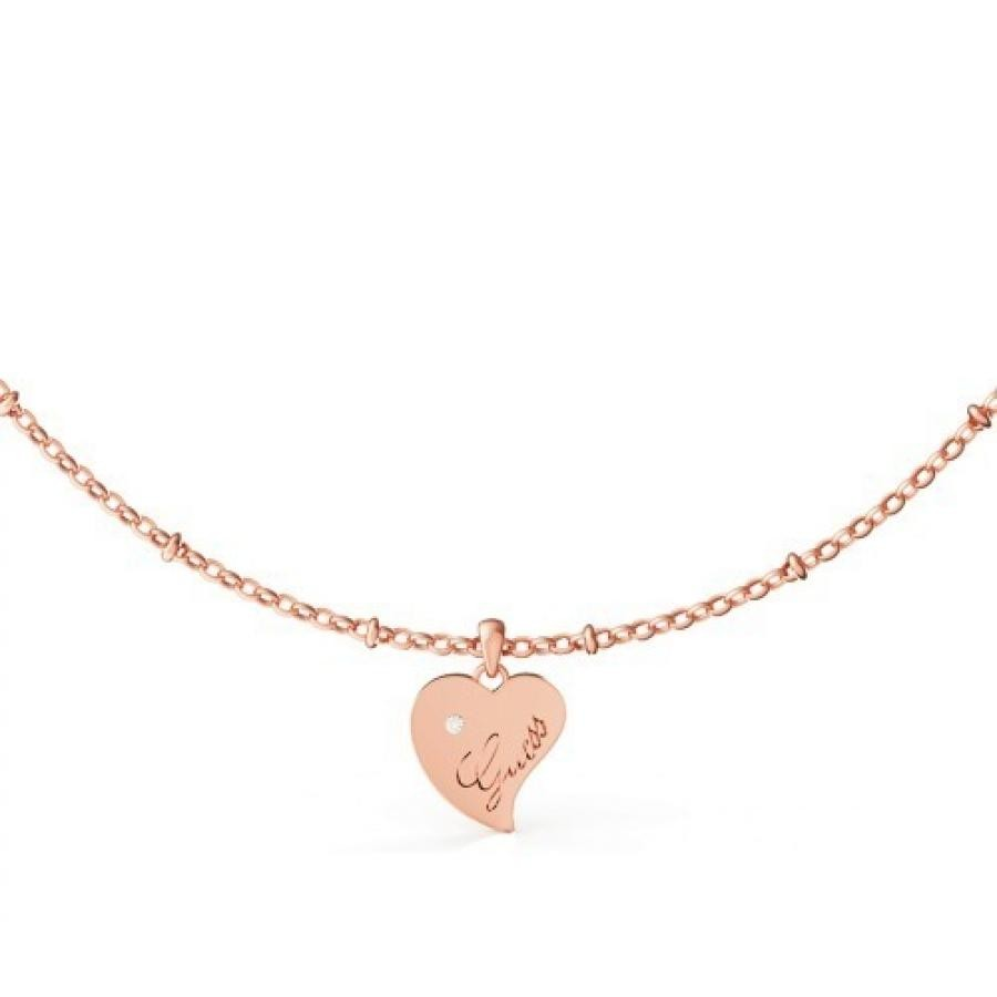 QUEEN OF HEART Heart Necklace (Rose Gold)
