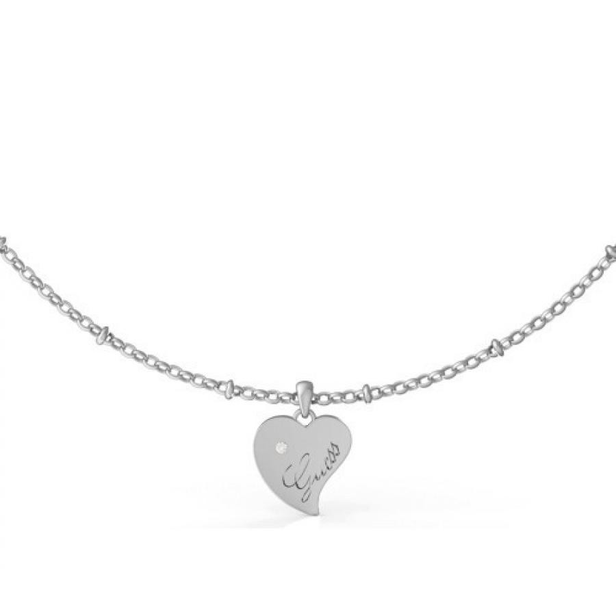 QUEEN OF HEART Heart Necklace (Silver)