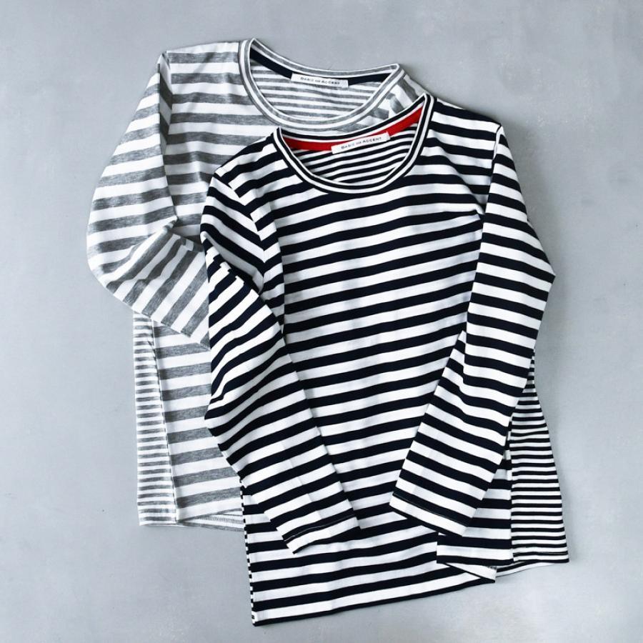 シルケットボーダー4 Tシャツ(長袖)