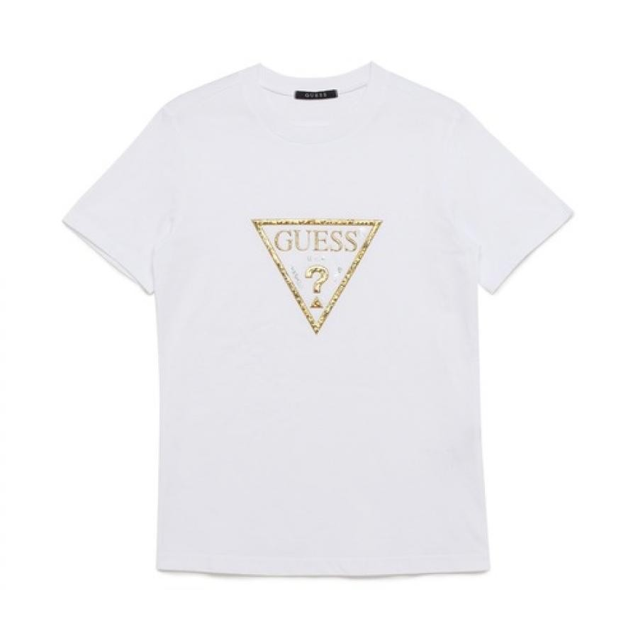 Loose-Fit Gold Triangle Logo Tee