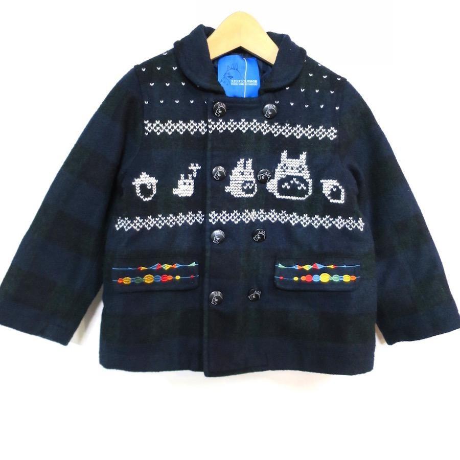 トトロ手編み縫い雪柄コート(110)