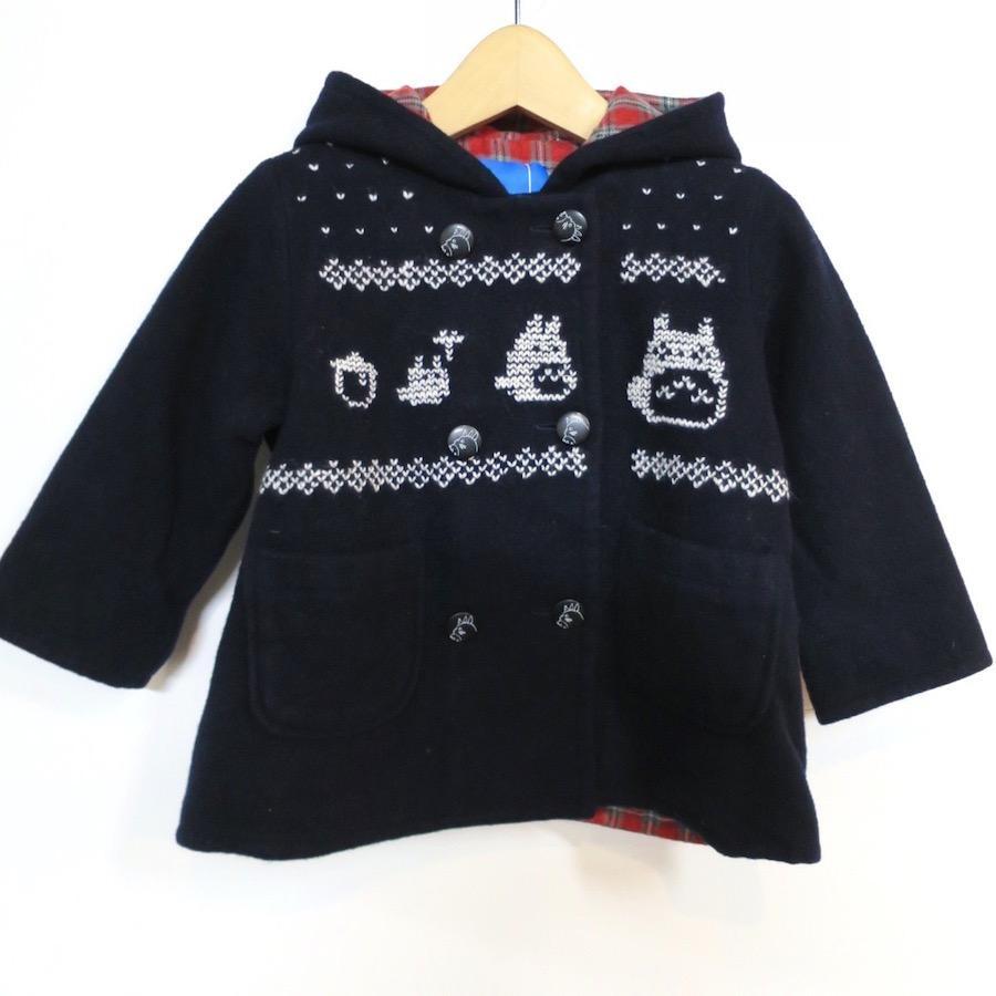 トトロ手編み縫い雪柄コート(90)