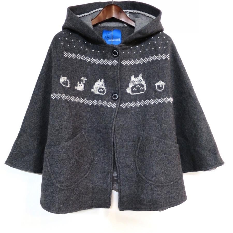 トトロ手編み縫い雪柄コート(WOMENS)
