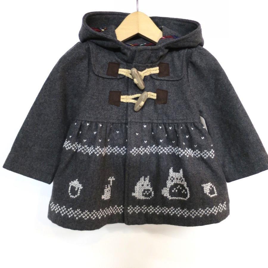 トトロ手編み縫い雪柄コート(70)