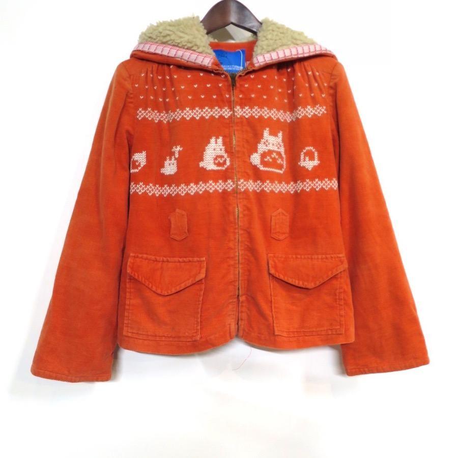トトロ手編み縫い雪柄コート(120)