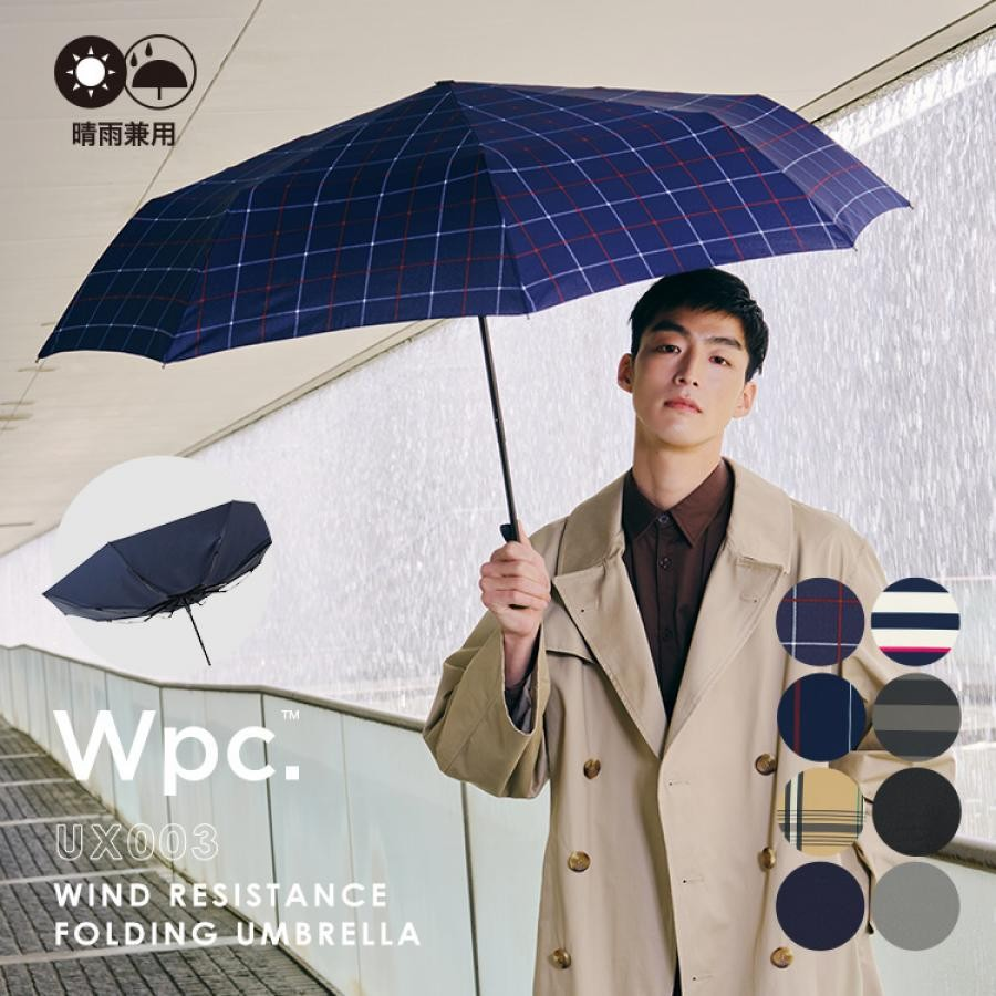 WIND RESISTANCE FOLDING UMBRELLA 【耐風 風に強い 折りたたみ 65cm ユニセックス 】