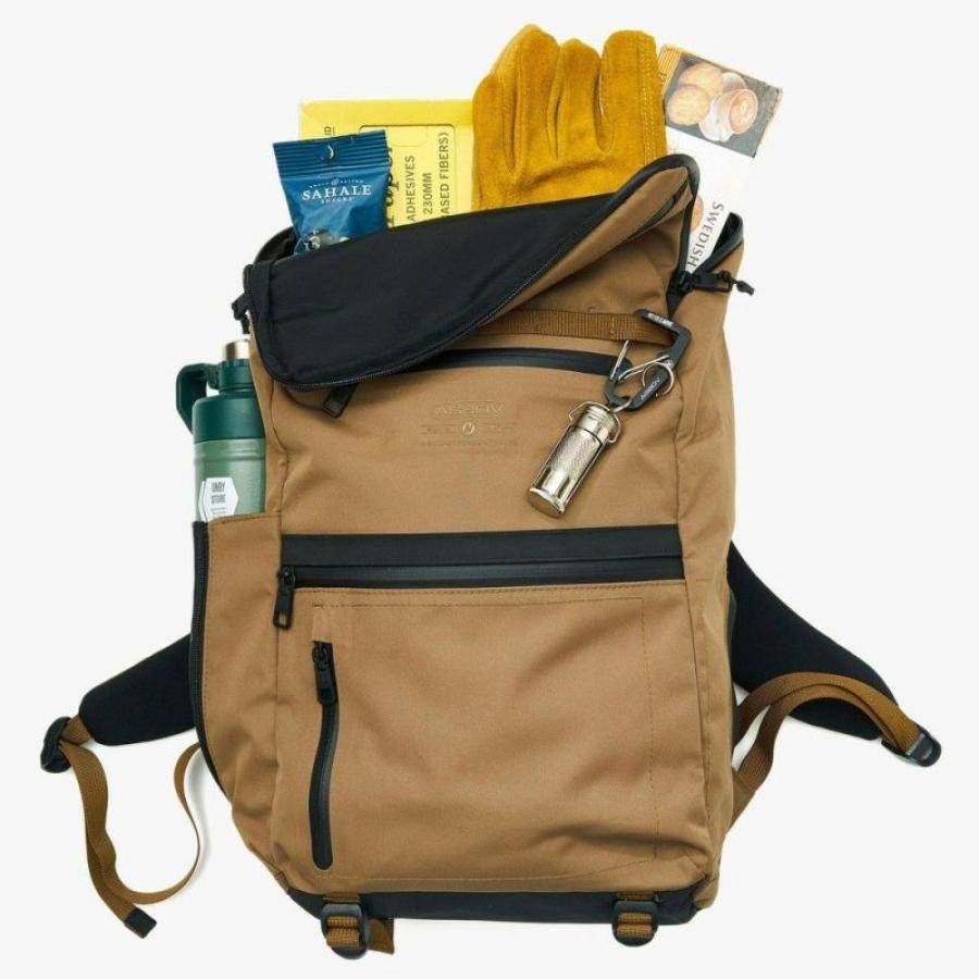WATER PROOF CORDURA 305D ROUND ZIP BACKPACK / バックパック リュック
