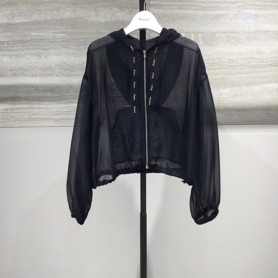 Shear short hoodie