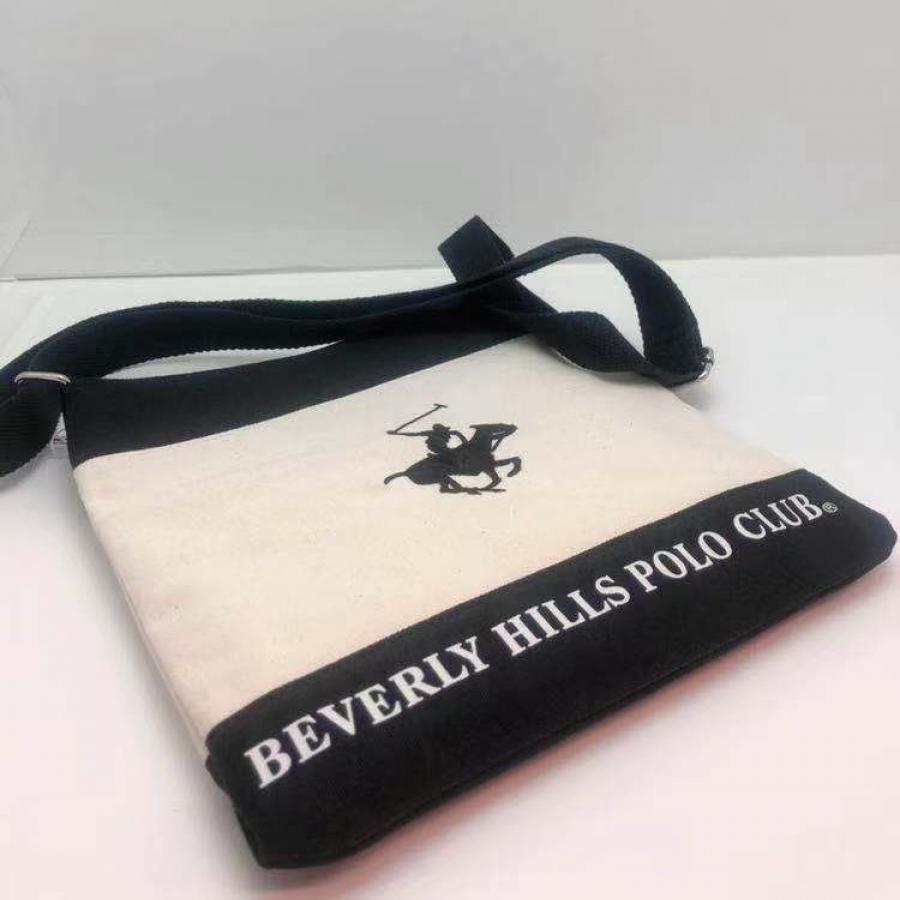 男女兼用 全年齢 バッグ  ジュニア 帆布バッグBEVERLY HILLS POLO CLUB ショルダーバッグ   トートバッグ   高校生 中学生 小学生 通学 旅行 鞄 ロゴ