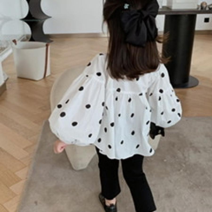 dot design pullover blouse